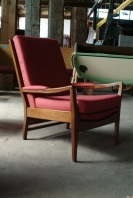 Vintage Danish Reupholstered Lounge Chair