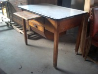 Antique Kitchen Work Bench – Possibly a cheese maker's table or Butcher's table
